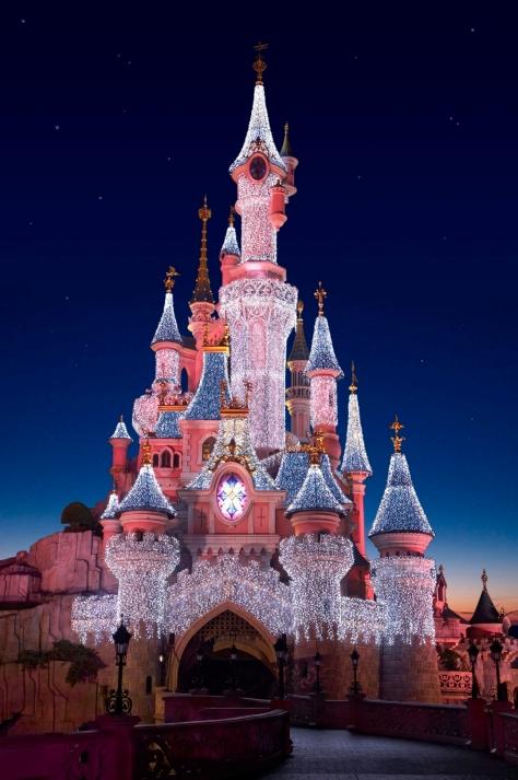 disneyland-parijs-kasteel-kerstsfeer