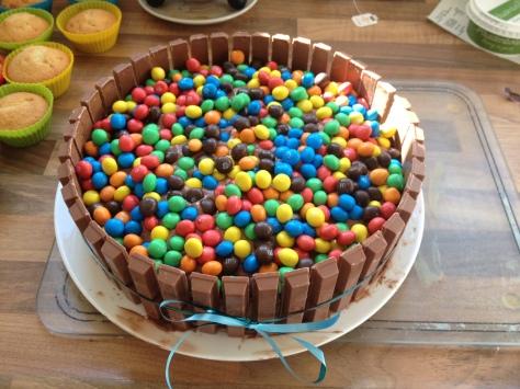 Chocoladetaart - Kitkat - M&M 3